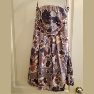 Women's Floral Strapless Dress from the Limited